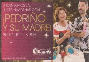 2012-11-29- La Voz de Galicia- Pedriño y su madre- Espacio Coruña
