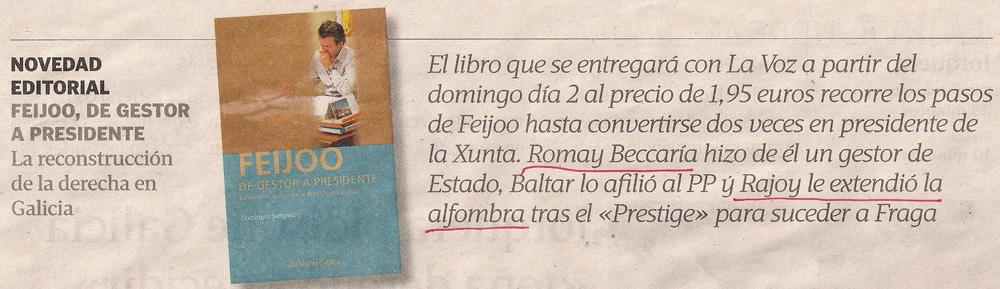 2012-11-30- La Voz de Galicia- feijóo de gestor a presidente 1