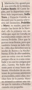 2012-12-01- La Voz de Galicia- Pedriño y su madre- Espacio Coruña 2