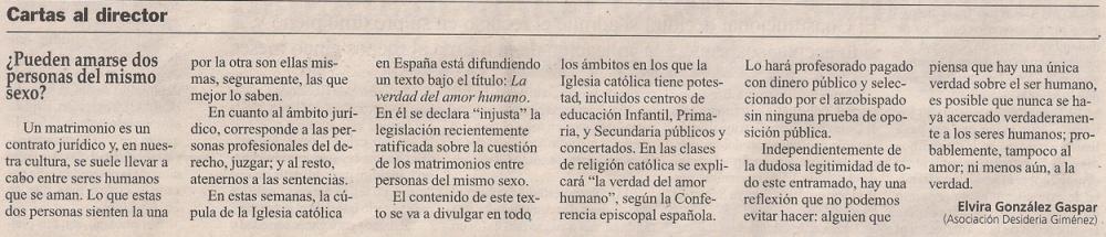 2012-12-06- La Opinión- Elvira González Gaspar