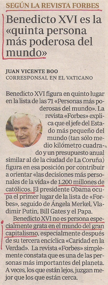 2012-12-07- abc- revista Fobes y benedicto xvi