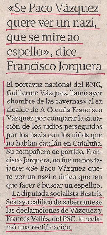 2012-12-14- La Voz de Galicia- paco vázquez nazi