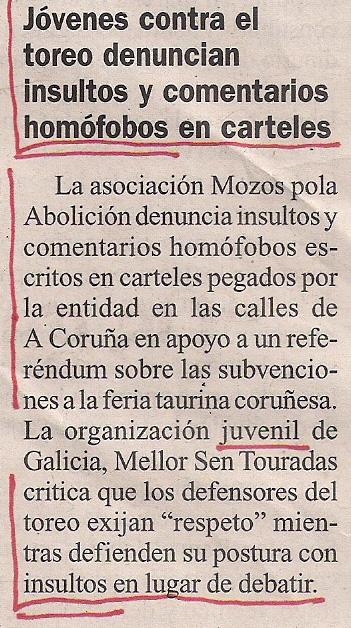2012-12-26- La Opinión- Galicia sen touradas