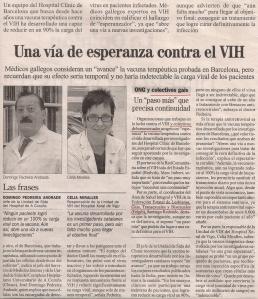 2013-01-04- La Opinión- Sida- Clinic de Barcelona- Vacuna 2