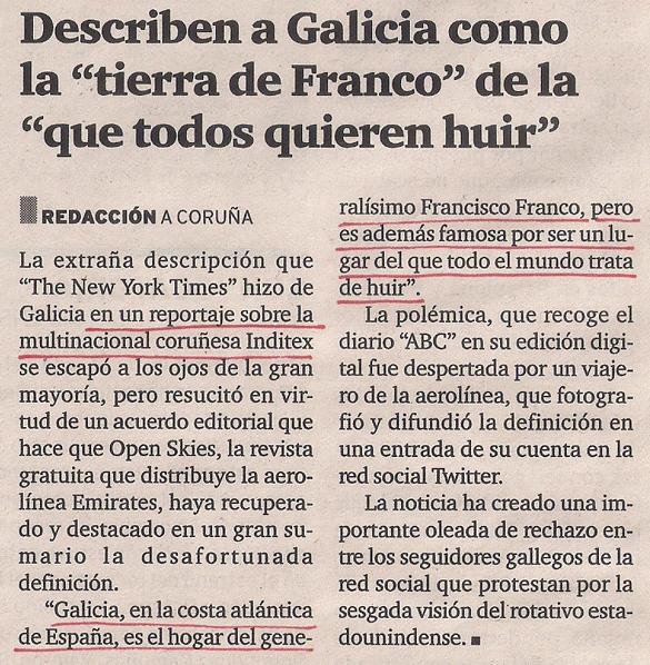 2013-01-26- El Ideal Gallego- Galicia tierra de franco