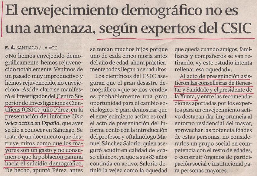 2013-03-06- La Voz de Galicia- Cuestión demográfica- CSIC