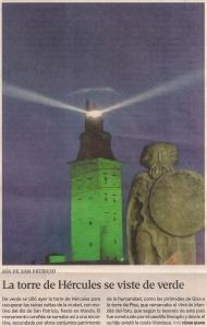 2013-03-17- La Voz de Galicia- Torre de Hércules- san patricio