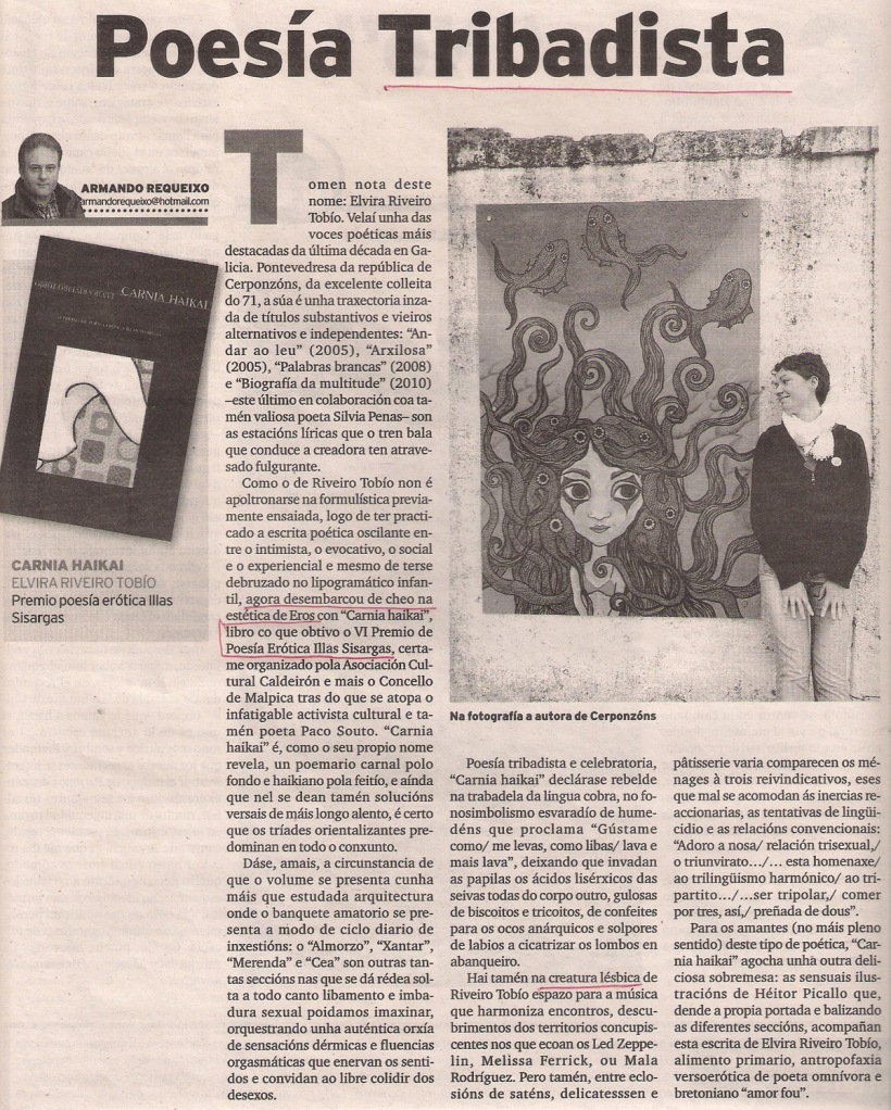 2013-03-24- El Ideal Gallego- Elvira Riveiro Tobío- Carnia Haikai