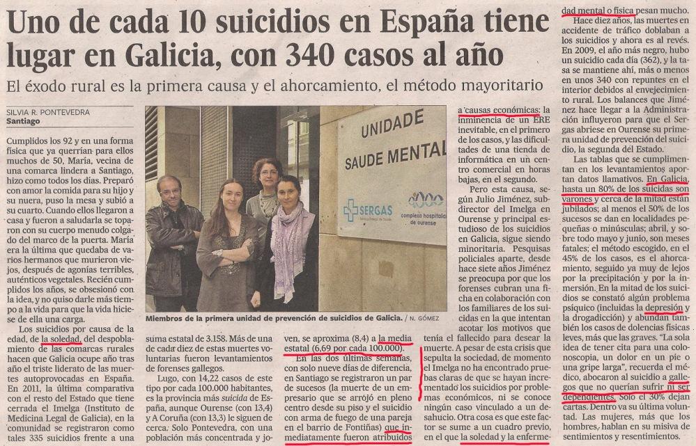 2013-04-14- El País- Estadísiticas de suicidios en Galicia