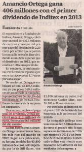 2013-05-03- El Ideal Gallego- beneficios para amancio ortega