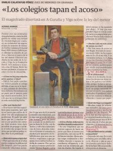 2013-05-28- La Voz de Galicia- Emilio Calatayud Pérez- Juez de menores 1