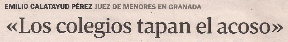 2013-05-28- La Voz de Galicia- Emilio Calatayud Pérez- Juez de menores 2