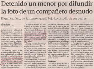 2013-06-07- La Voz de Galicia- Fotos de un chico desnudo en internet