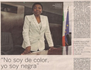 2013-06-08- El País- Cécile Kyenge ministra italiana  1