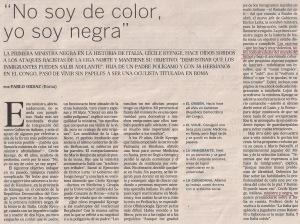 2013-06-08- El País- Cécile Kyenge ministra italiana  2
