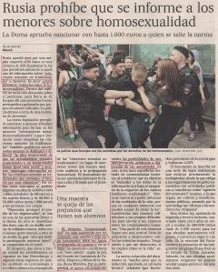 2013-06-12- El País- Rusia prohibe la homosexualidad 1