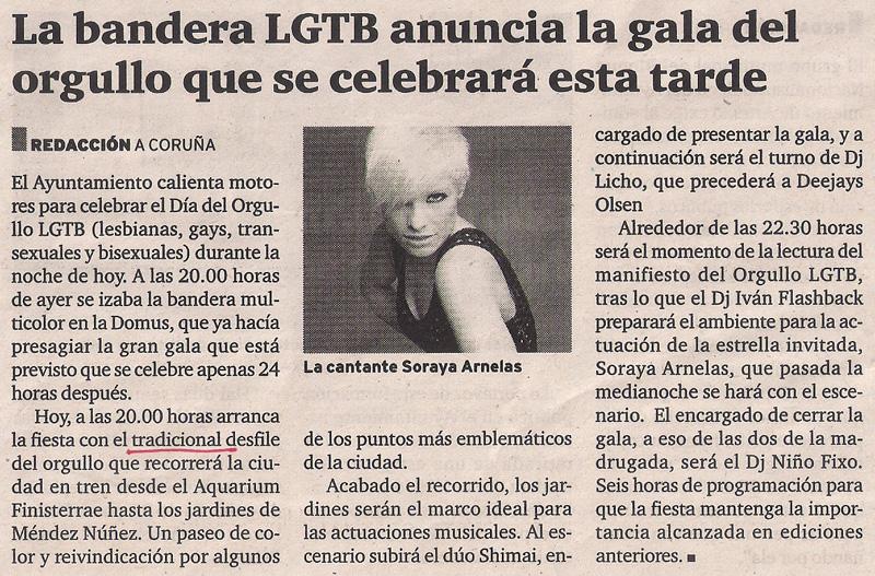 2013-06-14- El Ideal Gallego- Fiesta del Día del Orgullo Gay