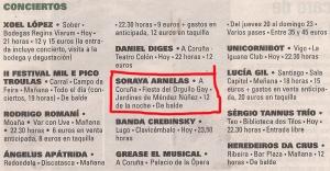 2013-06-14- La Voz de Galicia- Orgullo Gay Coruña- Soraya Arnelas