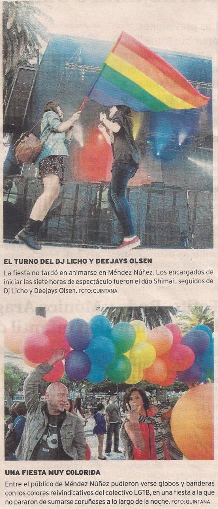 2013-06-15- El Ideal Gallego- Día del Orgullo Gay Coruña- 2