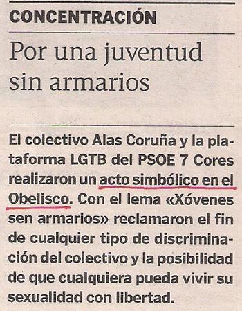 2013-06-15- La Voz de Galicia- Orgullo Gay Coruña- Soraya Arnelas 2
