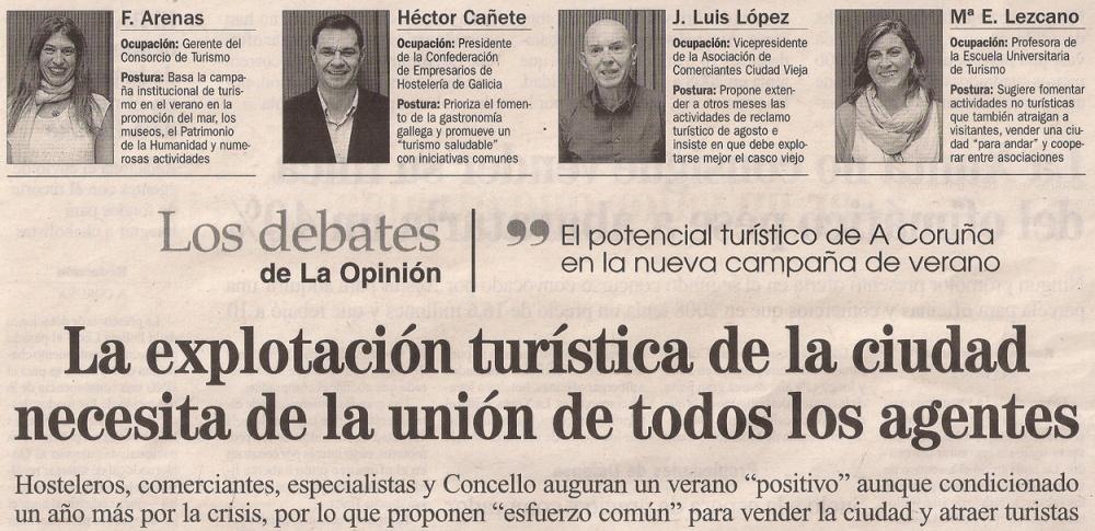2013-06-23- La Opinión- Turismo en Coruña 1
