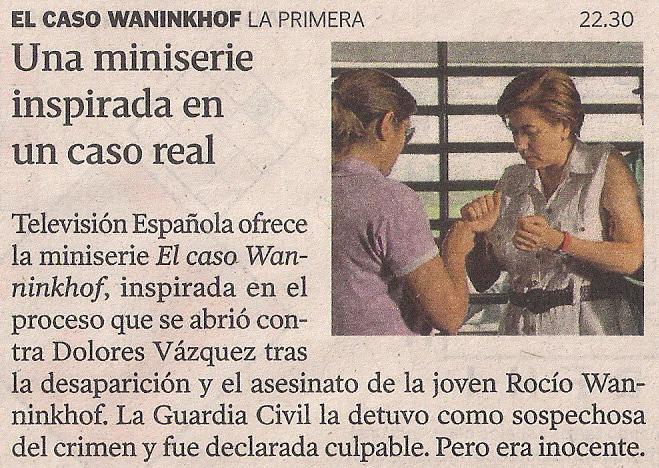 2013-07-01- La Voz de Galicia- Caso Rocío Wanninkhof
