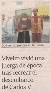 2013-07-08- La Voz de Galicia- Fiesta de Carlos V en Viveiro