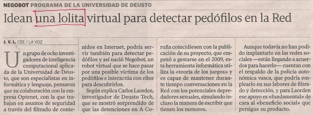 2013-07-11- La Voz de Galicia- Operación Arkángel 2