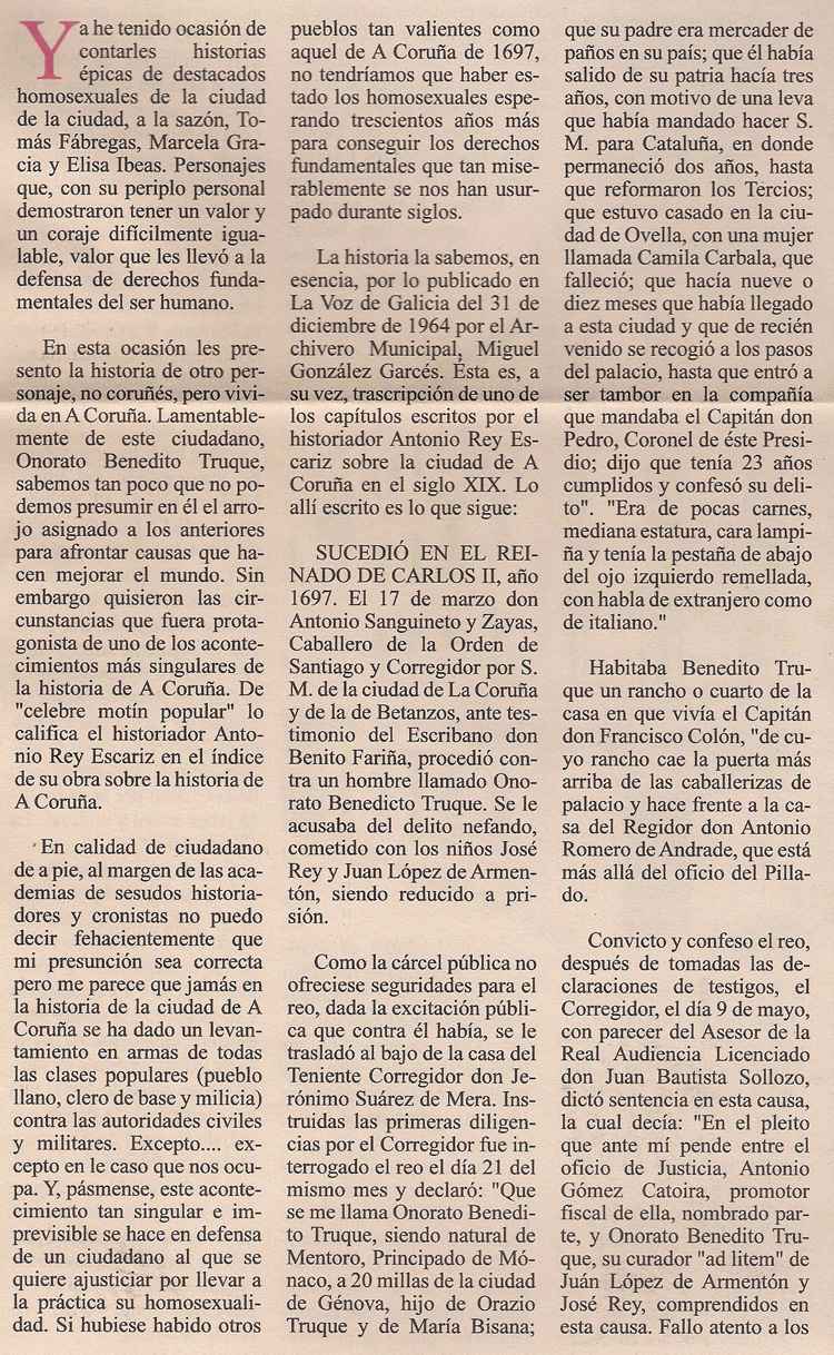 Historia de Onorato Benedito Truque 2