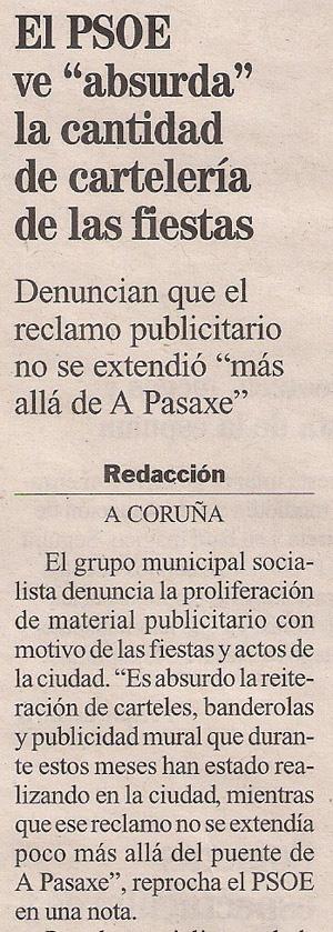 2013-08-15- La Opinión- PSOE, pp y publicidad institucional 1