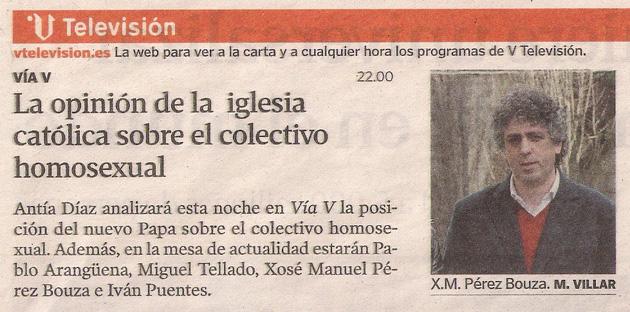 2013-08-22- La Voz de Galicia- El papa francisco- Vía V