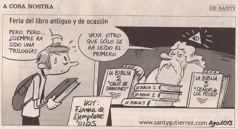 2013-08-23- La Opinión- Humor de Santy- La biblia