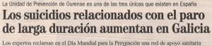 2013-09-10- La Opinión- Suicidios en Galiicia 1