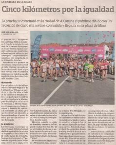 2013-09-13- La Voz de Galicia- Carrera de la mujer 1