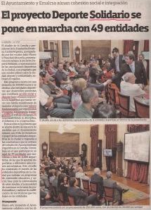2013-10-06- La Voz de Galicia- Deporte Solidario 1