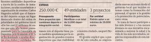 2013-10-06- La Voz de Galicia- Deporte Solidario 2