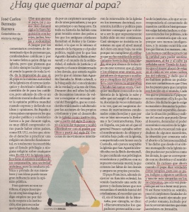 2013-10-14- La Voz de Galicia- Quemar al papa 1100