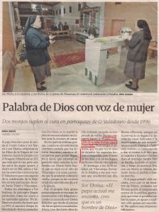 2013-10-15- La Voz de Galicia- Mujeres católicas sacerdotisas 1