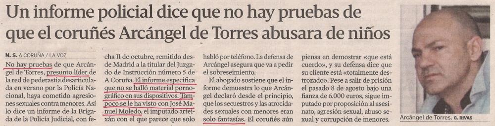 2013-10-17- La Voz de Galicia- Operación Arkángel- Sin pruebas 1