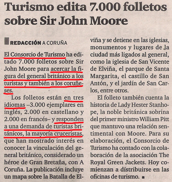 2013-10-21- El Ideal Gallego- Folletos de Sir John Moore