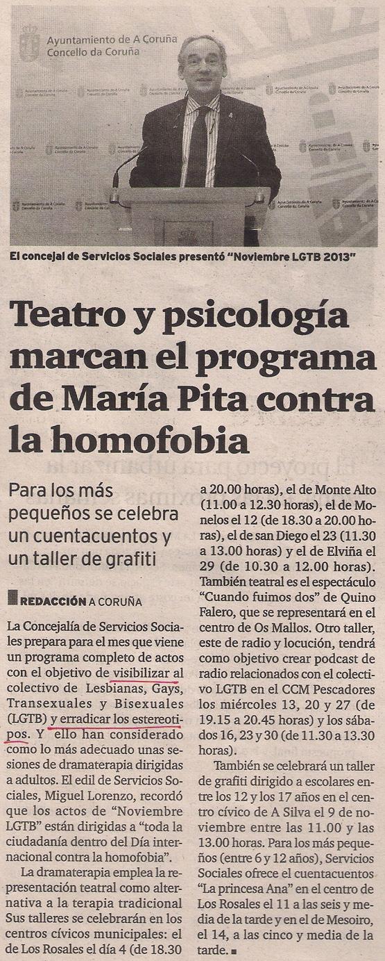 2013-10-25- El Ideal Gallego- Noviembre LGTB