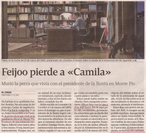 2013-10-27- La Voz de Galicia- Camila, la perra de alberto núñez feijoo