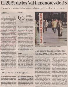 2013-11-30- La Voz de Galicia- VIH en jóvenes homosexuales 2