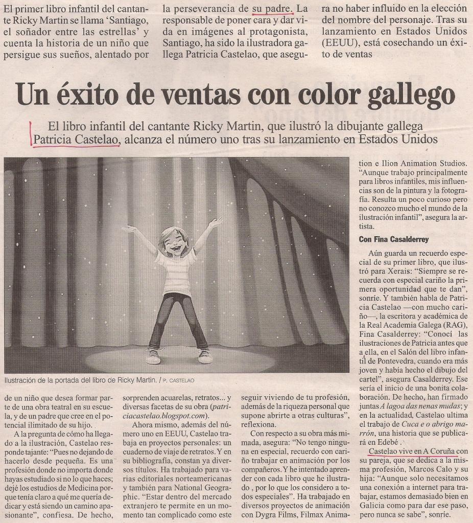 2013-12-12- La Opinión- Patricia Castelao y Ricky Martin 2