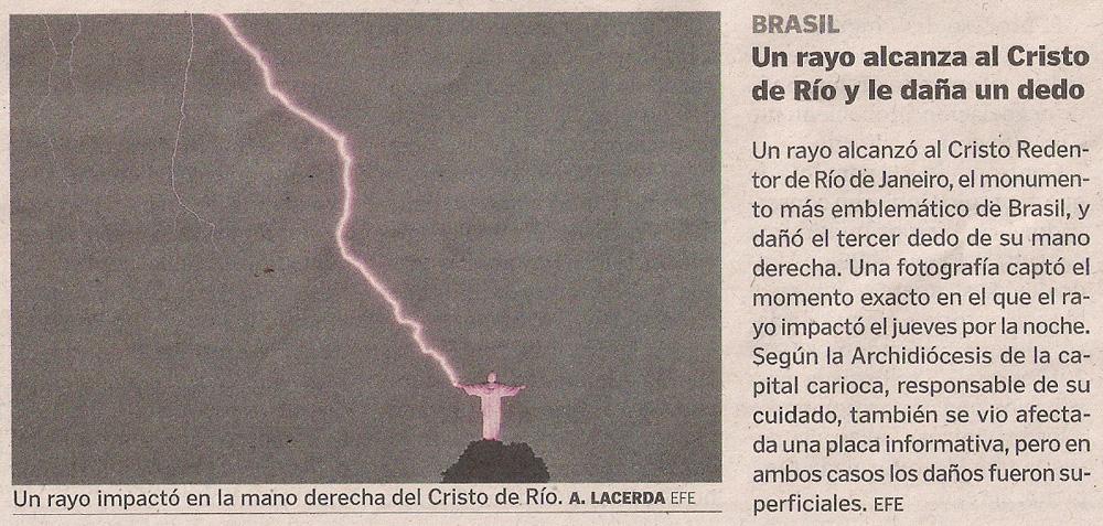 2014-01-18- La Voz de G- Un rayo y el cristo de Río de Janeiro