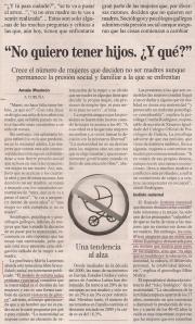 2014-01-26- La Opinión- Natalidad en Galicia 1