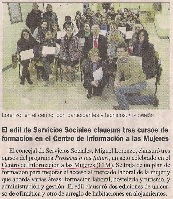 2014-01-31- La Opinión- Centro de Información a las Mujeres