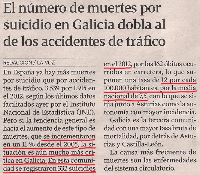 2014-02-01- La Voz de G- Suicidios en Galicia- Estadísticas