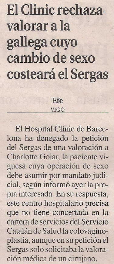 2014-05-27- La Opinión- Charlotte Goiar- Clinic Barcelona 1