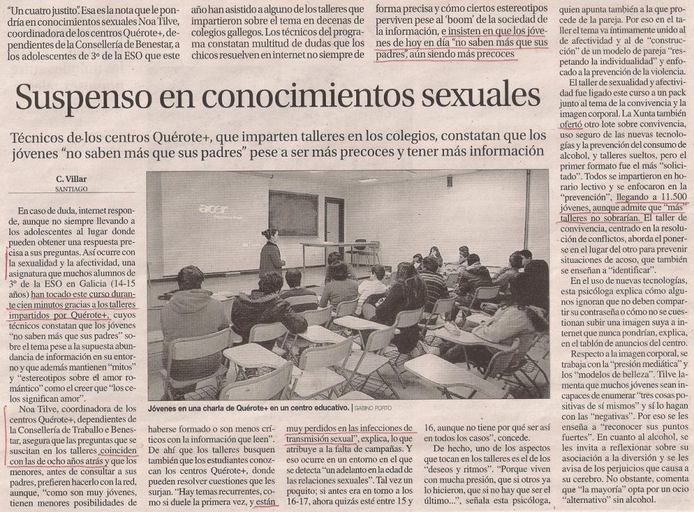 2014-06-17- La Opinión- Centros Quérote - Noa Tilve